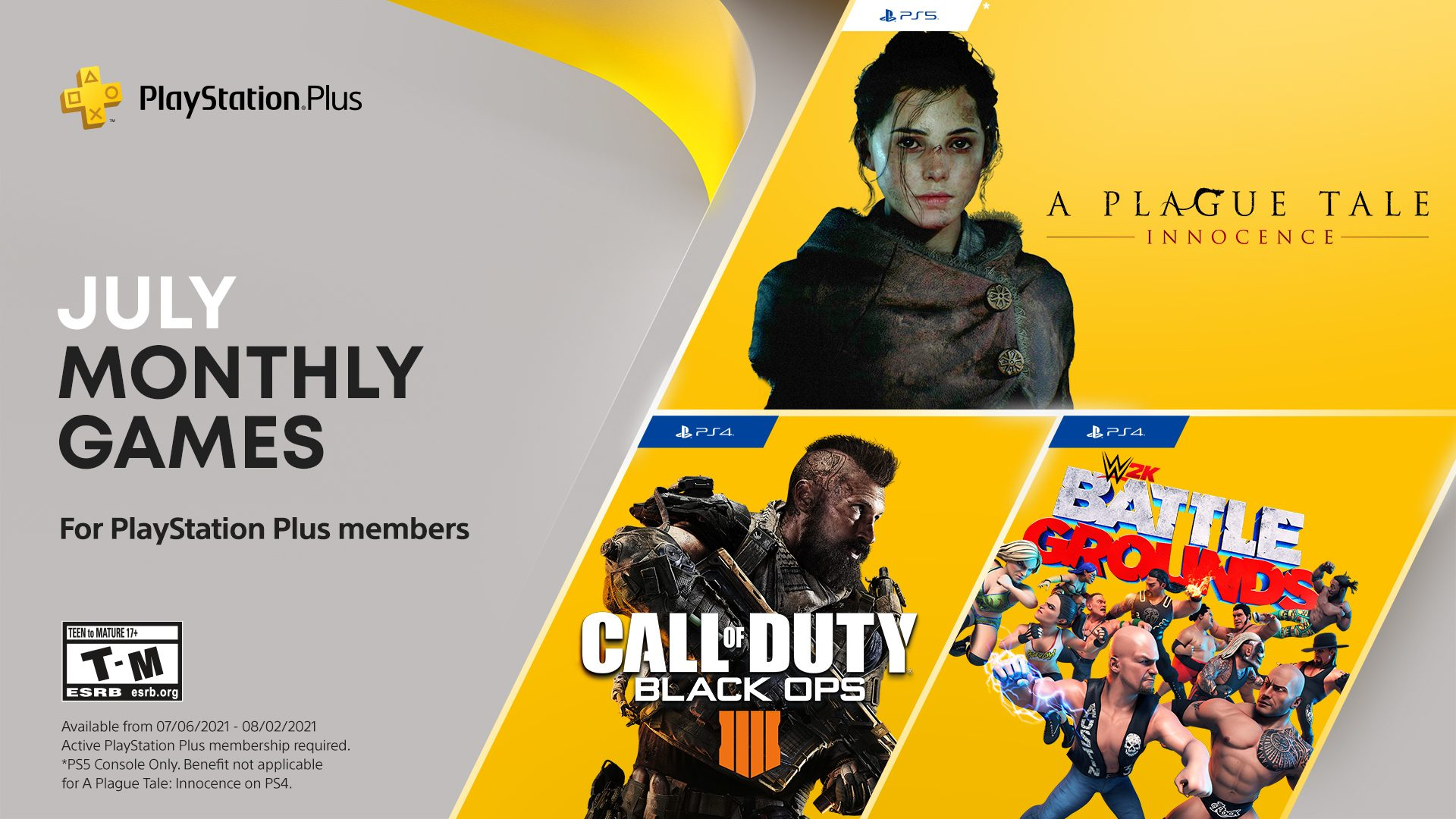 playstation-in-addition-video-games-for-july:-connect-with-of-duty:-black-ops-four,-wwe-2k-battlegrounds,-a-plague-tale:-innocence