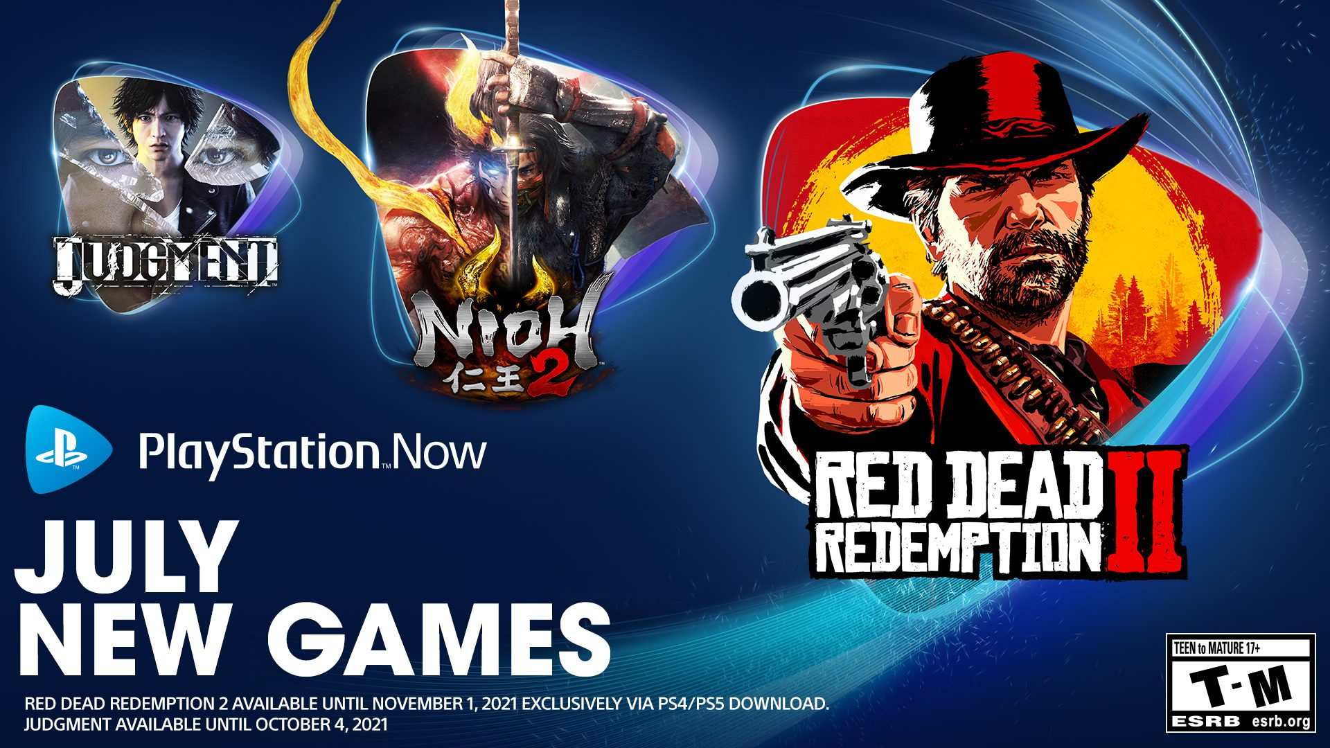 playstation-now-game-titles-for-july:-purple-dead-redemption-two,-nioh-2,-judgment