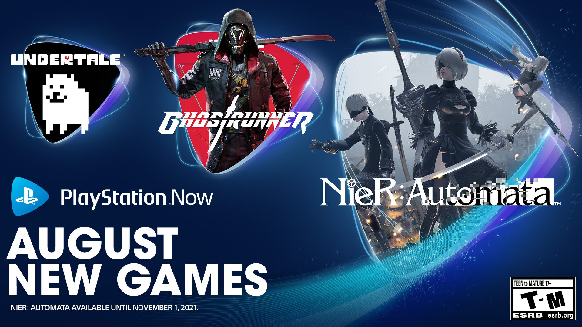 playstation-now-online-games-for-august:-nier:-automata,-ghostrunner,-undertale